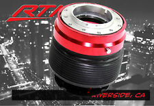 92-95 Honda Civic 93-97 Del Sol Steering Wheel Adapter Hub + Quick Release Red