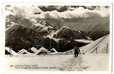 CPSM 38 Isère Oisans l'Alpe d'Huez Chute de neige sur le Cime du Cornillon animé