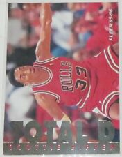1995/96 Scottie Pippen Chicago Bulls Fleer Total D Insert Card #9 of 12 NM Cond