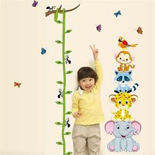 Animals Child Height Growth Chart Measure Wall Sticker Decal Decor For Kid Rooㅏ
