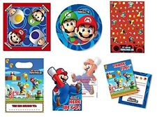 Super Mario Bros Party Plates, Napkins, Tablecover, Loot Bags, Invites & Thanks
