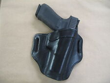 "Springfield XD Mod2, XDM, XD 4""-4.5"" OWB Leather 2 Slot Pancake Belt Holster BLK"