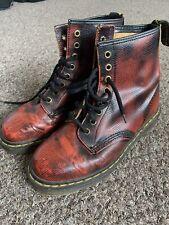 Dr Martens Red Black Vintage Size 6