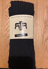 River Island S/M Black Cable Knit Fashion Tights 80% Cotton 20% Elastane New