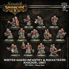 Warmachine BNIB - Khador Winterguard Infantry & Attach (13)  PLASTIC