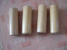 VINTAGE LOT DE 4 PIEDS POUR MEUBLE .cylindriques