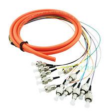 1.5 M FC/PC 12 Fiber Cores 0.9mm Breakout Fiber Pigtail Optic Patch Cord MM 62.5