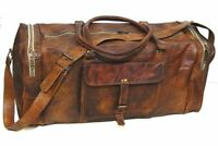Handmad Leather Duffle Travel Men Luggage Gym Vintage Genuine Weekend Hang on