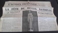 Diario Nacionalista ACCIÓN Francesa 13 Mayo 1934 N º 133 ABE