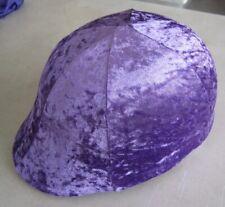 Horse Helmet Cover Mauve/Pale purple Velveteen  AUSTRALIAN MADE Choose your size