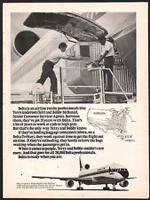1976 DELTA AIRLINES L-1011 Tri Star Terry Anderson Bobby McDonald Cust Svc Agent