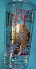 VINTAGE LSU TIGERS FOOTBALL BAR GLASS football schedule 1966 MIKE TIGER