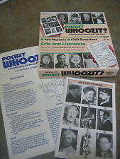 Vtg Pocket Whoozit? Arts & Literature Challenging Strategy Picture Game