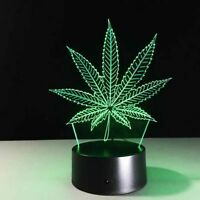 Leaf Illusion LED Lamp 3D Light Experience