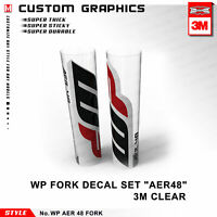 WP Suspension Decals Factory Front Fork Stickers for Dirt Bike From 125cc Clear