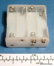 Battery holder for 8 x AA (UM-3) cells - stud contacts - white