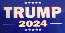 Wholesale Lot of 6 Trump 2024 Blue Decal Bumper Sticker
