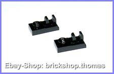 LEGO 2 x plaque charnière plaques Noir - 92280-plate Black Clip-Neuf/New