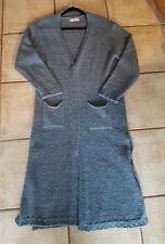 Selected Touch Made in Italy Strickmantel mit Wolle und Mohair jeansblau melange