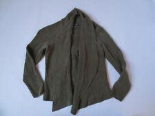 Eileen Fischer Gray Organic Linen Open Front Sweater Cardigan Top Womens XS/S