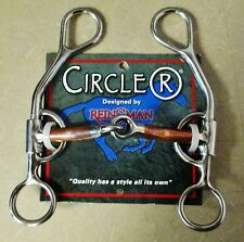 NWT Circle R Bit Reinsman Argentine Smooth Copper Snaffle
