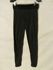 S5005 Victorias Secret Love PINK XS Black Yoga Pants With Animal Print Waistband