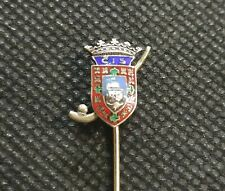 Old rare sterling Silver enamel stick pin badge -  Infante Sagres  Hockey Club