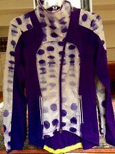 Lululemon Presta Cycling Jacket ~ Sz 4 ~ Bruised Berry Purple White ~ VGUC