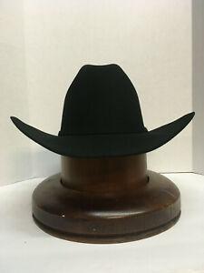 50X STETSON HAT BEAVER FUR-El Campeon BLACK-NEW W/Tag+FREE-SHIPPING USA