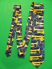 Steven Harris Hand Made 100% Polyester Neck Tie. Trumpets.