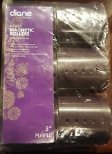 "Diane Magnetic Rollers 3"" Purple 6pk"