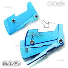CNC Alloy Suspension Ride Height & Camber Gauge Tool for 1/10 RC Car - Blue