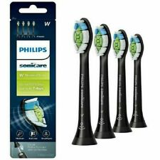 Philips Sonicare Diamond Clean BLACK Electric Toothbrush Heads HX6064/65 - 4x