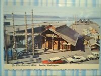 VINTAGE POST CARD AERIAL VIEW YE OLD'E CURIOSITY SHOP  SEATTLE WASHINGTON