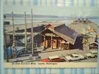 VINTAGE POST CARD AERIAL VIEW YE OLD'E CURIOSITY SHOP  SEATTLE WASHINGTON