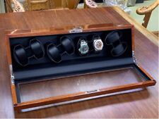 Case Box Automatic Rotation—Solid Wood 8 Watch Winder Storage Display