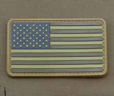 "PVC / Rubber Patch ""Subdued American / Usa Flag Brown"" with VELCRO® brand hook"