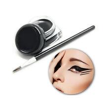 Waterproof Black Eye Liner Eyeliner Gel Makeup Cream Cosmetic+Brush Makeup Set