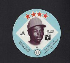 1978 MSA Big T / Tastee Freez Discs LOU BROCK St Louis Cardinals MINT