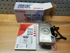 Canon Sure Shot 76 Zoom Date 35mm Point & Shoot Film Camera in box