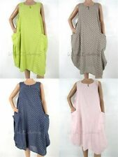 Knee Length Scoop Neck Dresses for Women with Pockets