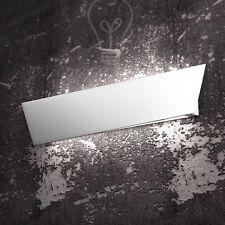 Applique Grande Moderna Metallo Verniciato Bianco Sala Bagno Ingresso Camera Led