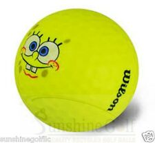 24 Near Mint Wilson SpongeBob SquarePants Yellow Used Golf Balls - FREE SHIPPING