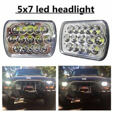 """Pair 45W 7x6"""" 5x7""""INCH CREE 15 LED Replace H6054 Headlights High/Low Beam 6000K"""