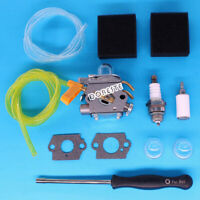 Carburetor For Homelite Ryobi Poulan Trimmer Blowers Air Fuel Filter Tune Up Kit