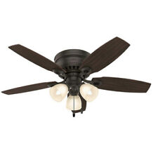 """Hunter  46"""" Hatherton New Bronze Ceiling Fan with Light New"""