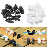GT- AU_ 10Pcs Microphone Clip For Cable On Lapel Lavalier Microphones & Headphon