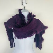 2 Chic Womens Scarf Eggplant Purple Ruffle Warm Fashion New MM63