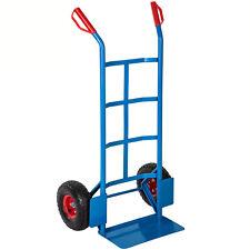 Carrello portacasse a mano manuale da trasporto ruote portata 200kg blu