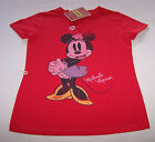 Disney Minnie Mouse Girls Red Printed Short Sleeve T Shirt Size 12 New